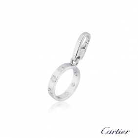 Cartier White Gold Diamond Love Charm